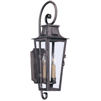 French Quarter 2 Light 24 inch Aged Pewter Outdoor Wall in Incandescent
