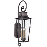 Parisian Square 4 Light 35 inch Aged Pewter Outdoor Wall Lantern in Incandescent