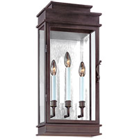 Troy Lighting Vintage 3 Light Outdoor Wall in Vintage Bronze B2973