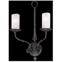 Troy Lighting Prescott 2 Light Wall Sconce in Aged Pewter B3112