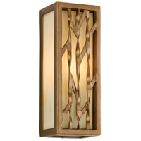 Serengeti 1 Light 12 inch Painted Bronze Leaf Outdoor Wall in Incandescent