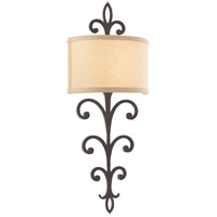 Crawford 2 Light 11 inch Cottage Bronze Wall Sconce Wall Light in Fluorescent