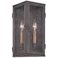 Troy Lighting Bermuda 2 Light Outdoor Wall in Aged Pewter B3202