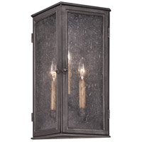 Troy Lighting Bermuda 3 Light Outdoor Wall in Aged Pewter B3203