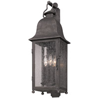 Larchmont 3 Light 25 inch Aged Pewter Outdoor Wall in Incandescent