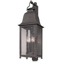 Larchmont 4 Light 32 inch Aged Pewter Outdoor Wall in Incandescent