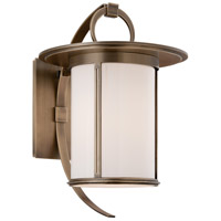 Troy Lighting Wright 1 Light Outdoor Wall in Antique Brass B3243