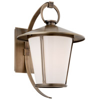 Troy Lighting Rennie 1 Light Outdoor Wall in Antique Brass B3253