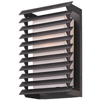Troy Lighting Shutters 1 Light Outdoor Wall in Forged Iron B3302