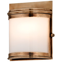 Troy Lighting Rotterdam 1 Light Outdoor Wall in Aged Brass B3321