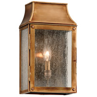 Troy Lighting Beacon Hill 1 Light Outdoor Wall in Heirloom Brass B3421