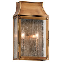 Troy Lighting Beacon Hill 2 Light Outdoor Wall in Heirloom Brass B3422
