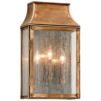 Troy Lighting Beacon Hill 3 Light Outdoor Wall in Heirloom Brass B3423