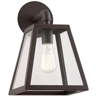 Amherst 1 Light 13 inch River Valley Rust with Coastal Finish Outdoor Wall in Clear