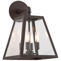 Amherst 4 Light 17 inch River Valley Rust Outdoor Wall in Clear