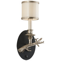 Drift 1 Light 8 inch Bronze With Silver Leaf Wall Sconce Wall Light in Right