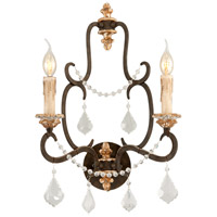 Bordeaux 2 Light 15 inch Parisian Bronze Wall Sconce Wall Light