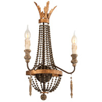 Troy Lighting B3532 Delacroix 2 Light 14 inch French Bronze Wall Sconce Wall Light
