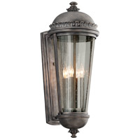 Ambassador 4 Light 28 inch Aged Pewter Outdoor Wall Lantern