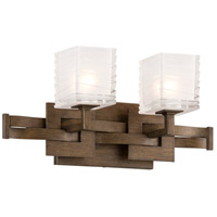 Troy Lighting Jensen 2 Light Bath Light in Danish Bronze B3582
