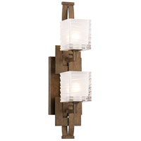 Jensen 2 Light 5 inch Danish Bronze Bath Light Wall Light