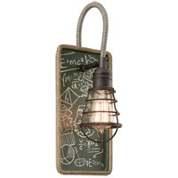 Troy Lighting Relativity 1 Light Wall Sconce in Salvage Zinc With Chalkboard Interior B3651