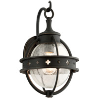 Troy Lighting Mendocino 1 Light Outdoor Wall Lantern in Forged Black B3681