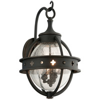 Troy Lighting Mendocino 3 Light Outdoor Wall Lantern in Forged Black B3682