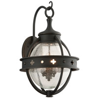 Troy Lighting Mendocino 4 Light Outdoor Wall Lantern in Forged Black B3683