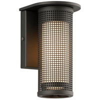Hive 1 Light 8 inch Matte Black Outdoor Wall Sconce in Incandescent