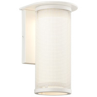 Troy Lighting BF3742WT-C Hive 1 Light 12 inch Satin White with Coastal Finish Outdoor Wall Sconce in Fluorescent