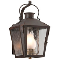 Nantucket 1 Light 14 inch Natural Rust Outdoor Wall Lantern
