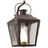 Nantucket 1 Light 22 inch Natural Rust Outdoor Wall Lantern in Fluorescent