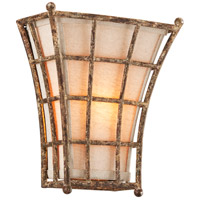 Left Bank 1 Light 10 inch Coastal Rust Wall Sconce Wall Light