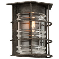 Troy Lighting Brunswick 1 Light Outdoor Wall Sconce in Aged Pewter B3791