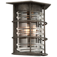 Troy Lighting Brunswick 2 Light Outdoor Wall Sconce in Aged Pewter B3792