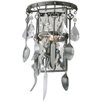 Troy Lighting B3801 Bistro 1 Light 8 inch Graphite Wall Sconce Wall Light