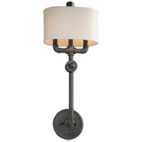 Troy Lighting Conduit 2 Light Wall Sconce in Old Silver B3811