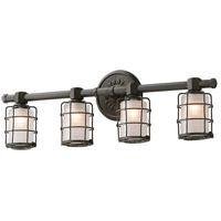 Mercantile 4 Light 27 inch Vintage Bronze Bath Vanity Wall Light