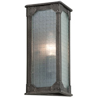 Hoboken 1 Light 12 inch Aged Pewter Outdoor Wall Lantern