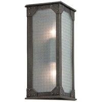 Troy Lighting Hoboken 2 Light Outdoor Wall Lantern in Aged Pewter B3873