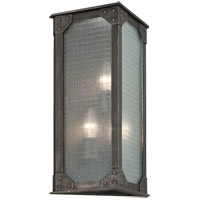 Troy Lighting Hoboken 3 Light Outdoor Wall Lantern in Aged Pewter B3874