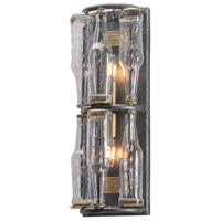 Troy Lighting 121 Main 2 Light Wall Sconce in Old Silver with Brass B3942