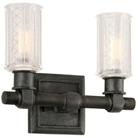 Troy Lighting Vault 2 Light Bath Vanity in Aged Pewter B4232