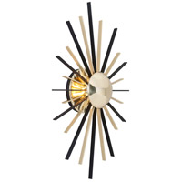 Troy Lighting Atomic Wall Sconce in Polished Brass with Matte Black B4251