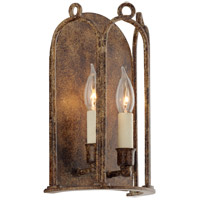 Troy Lighting Carousel - Wall Sconce - Provence Bronze Finish - Hardback Linens B4832