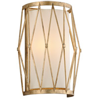 Troy Lighting Calliope Wall Sconce - Rustic Gold Leaf Finish - Hardback Linen B4862