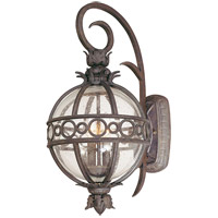 Campanile 2 Light 22 inch Campanile Bronze Outdoor Wall Lantern