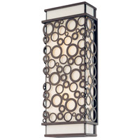 Aqua 2 Light 17 inch French Iron Outdoor Wall Lantern