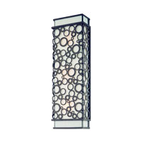 Aqua 3 Light 21 inch French Iron Outdoor Wall Lantern